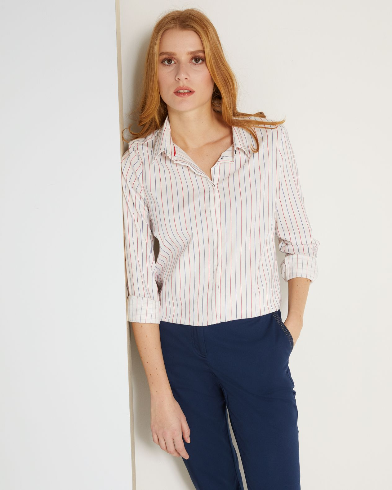 Chemise femme inspiration fines rayures