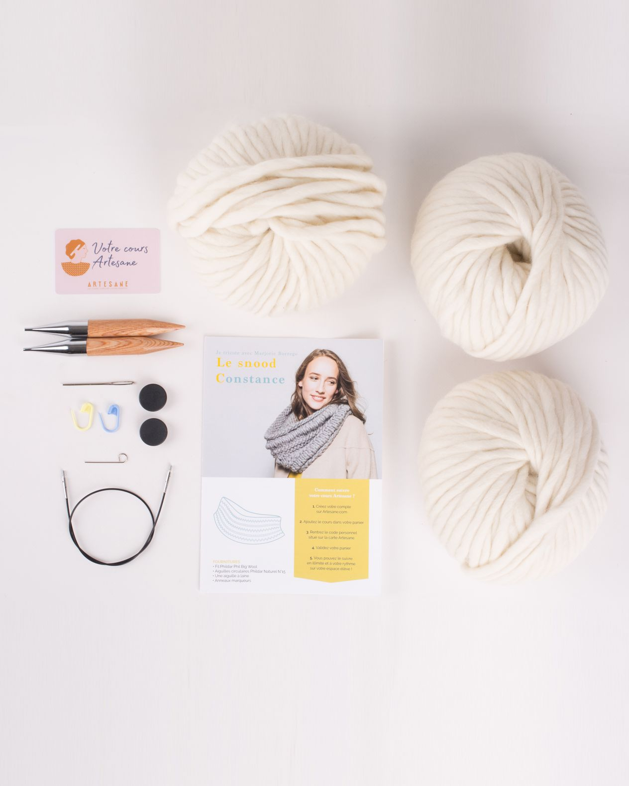 Kit Artesane - Le snood Constance