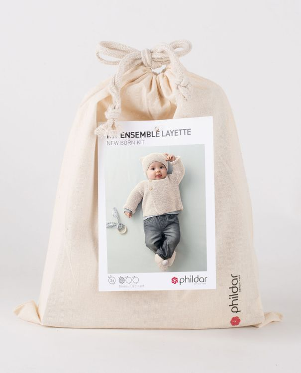 Kit diy-ensemble layette laine cachemire