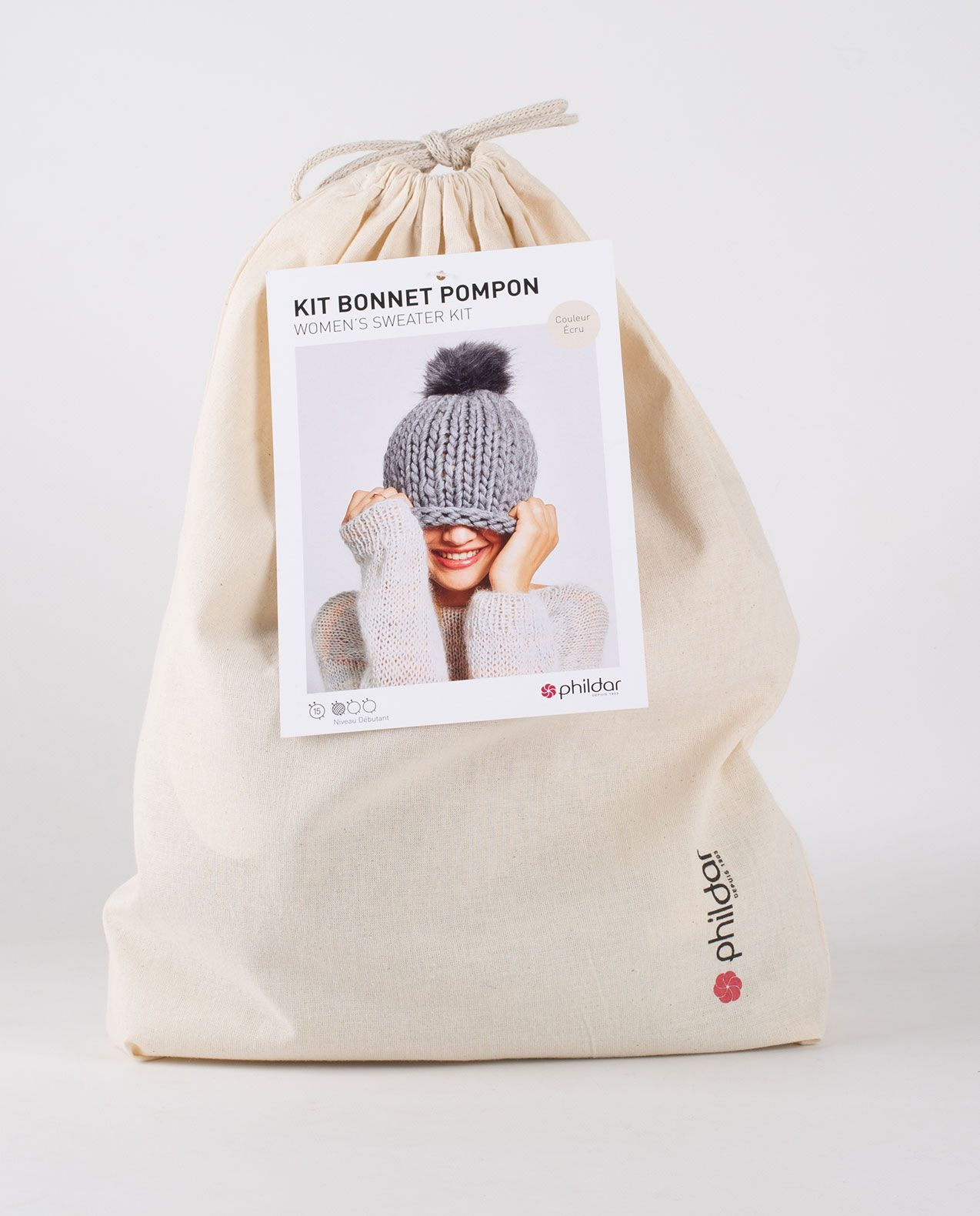 Kit diy - bonnet pompon