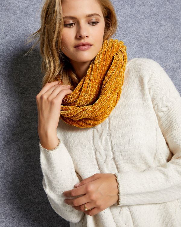 Snood femme maille velours