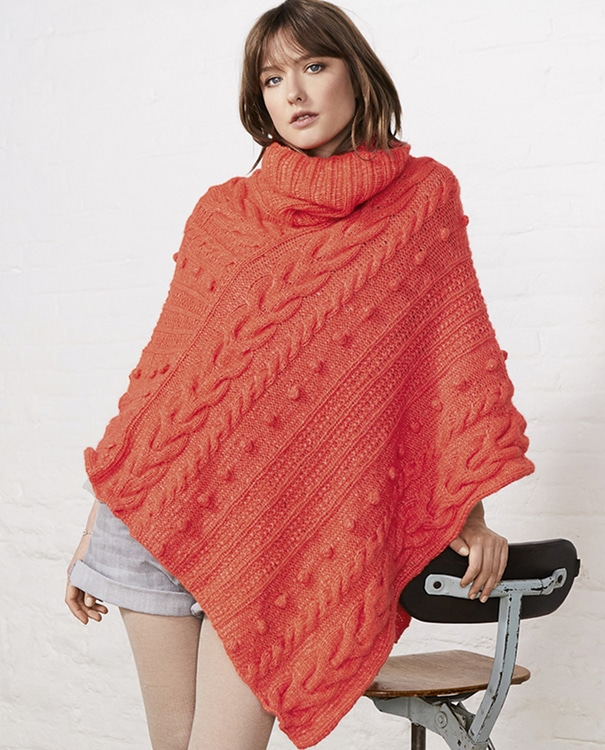 Modèle poncho femme Nolween