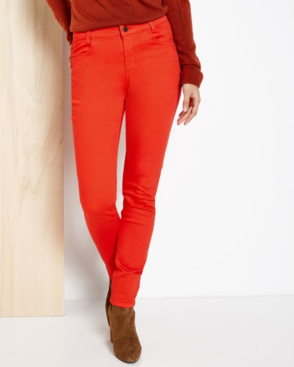 Pantalon denim femme push-up
