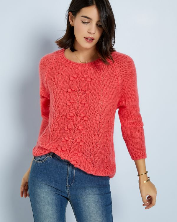 Pull femme maile douce fantaisie noppes
