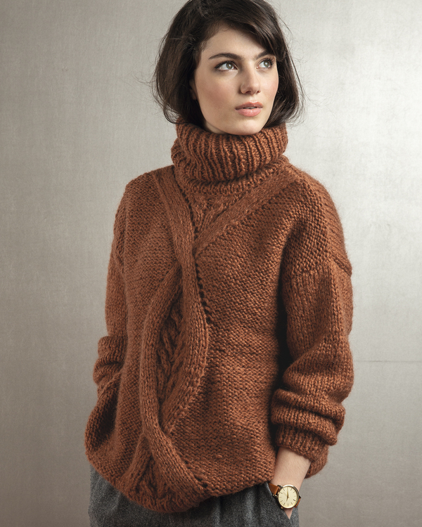 Modèle Pull Femme Ruby Phil Maxi Mohair