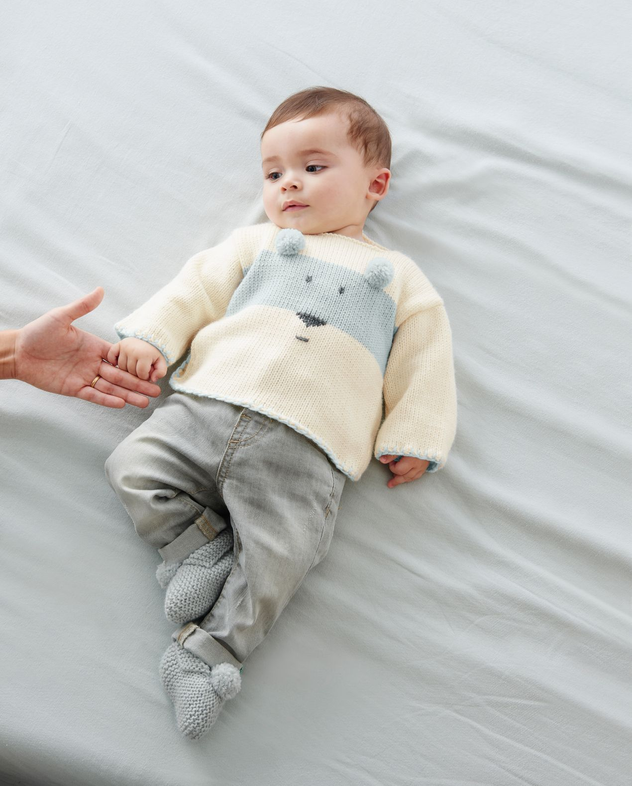 KIT DIY - PULL LAYETTE OURSON GIVRE