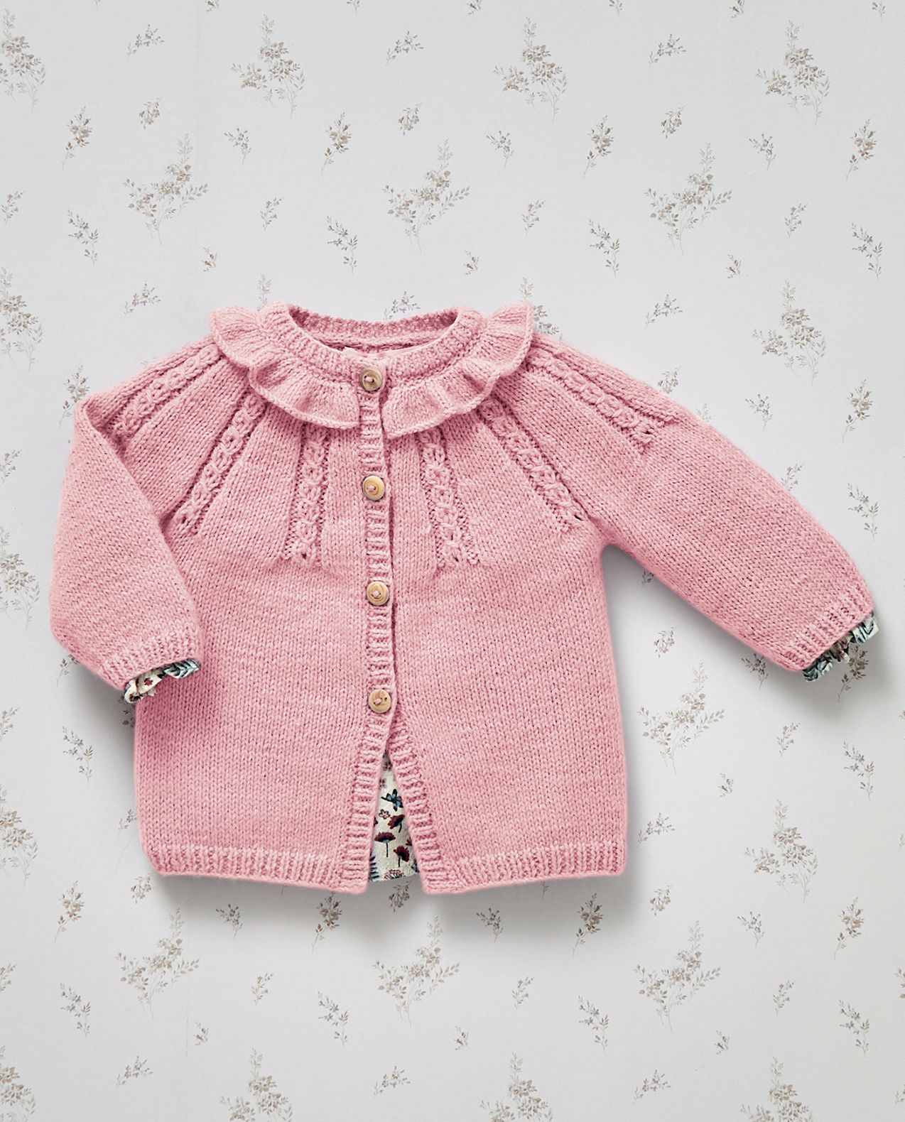 Modèle Cardigan Phil Partner Baby rose