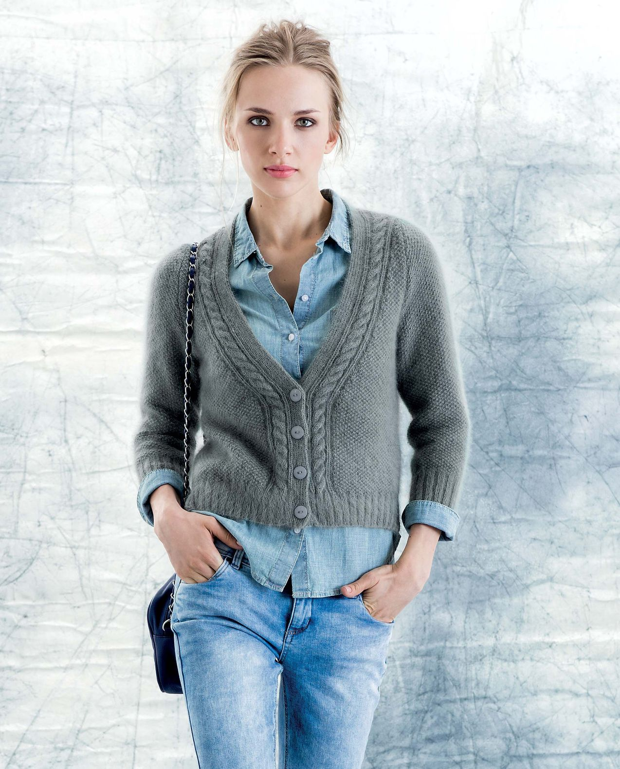 well known save off size 40 Modèle Cardigan Angora Femme