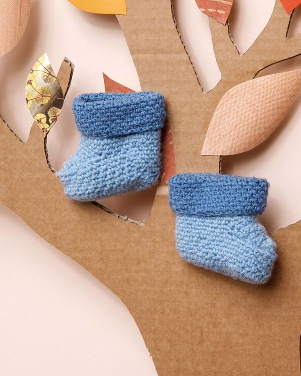 Modèle chaussons Lambswool Layette