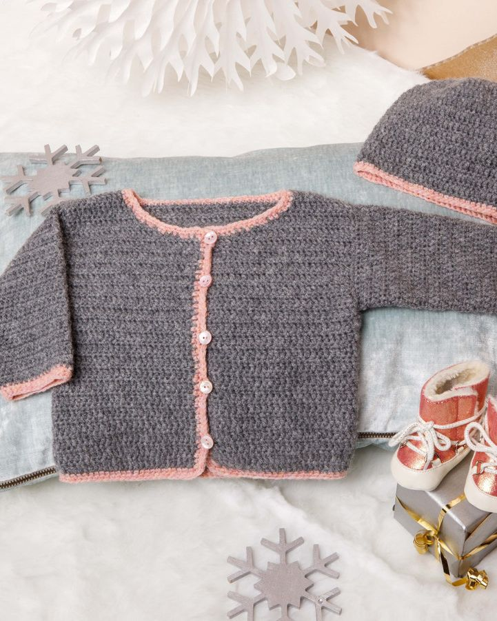 Modèle cardigan Phil Soft + Layette