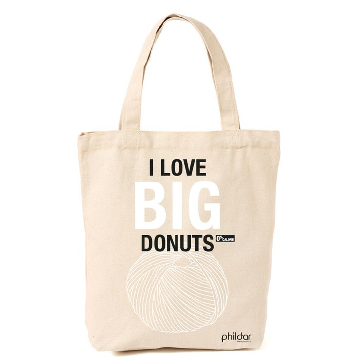 Tote bag - I Love big donuts