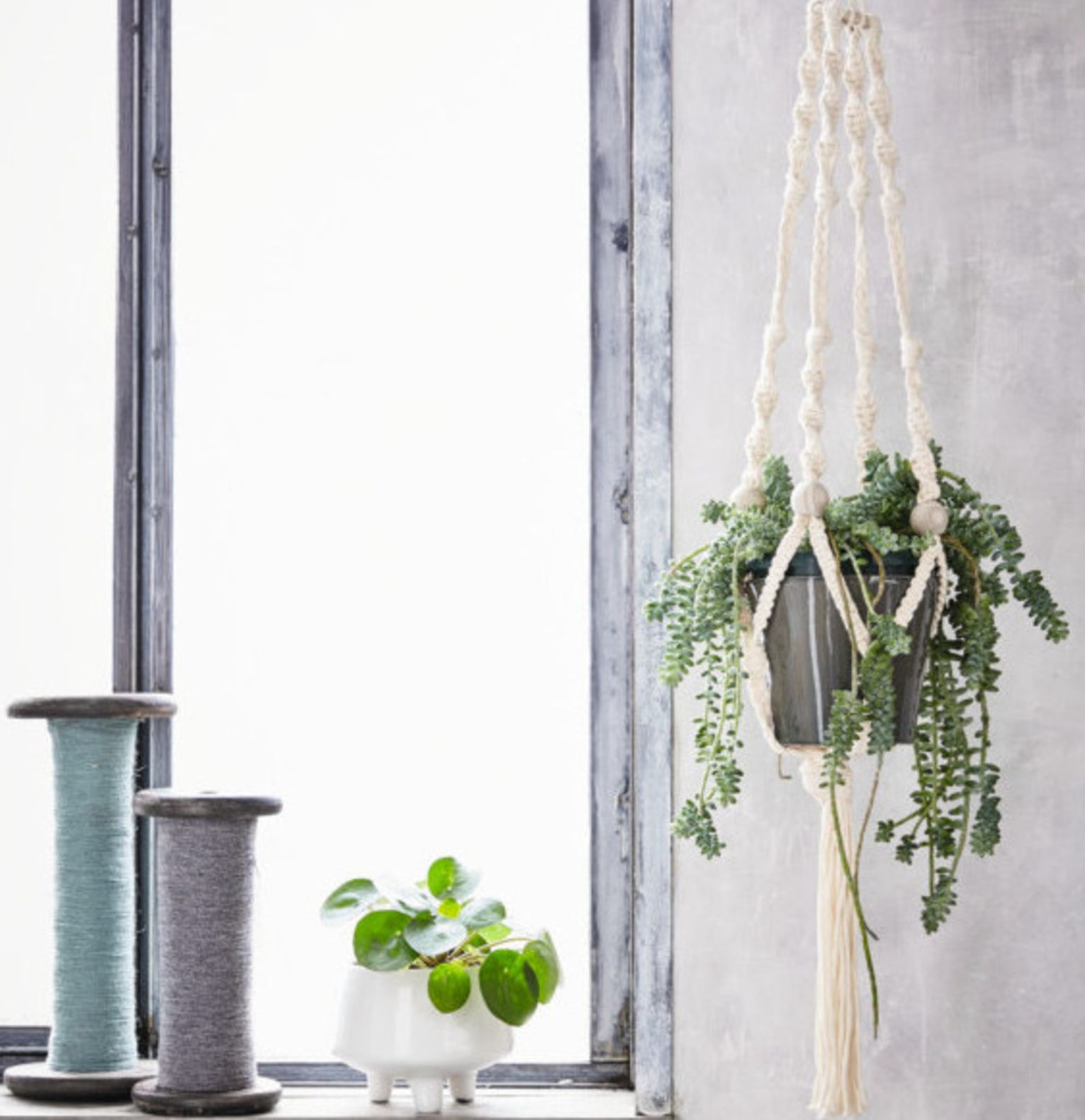 Kit DIY - Suspension en macramé déco