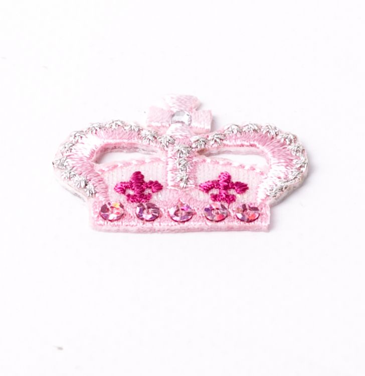 Ecusson couronne rose